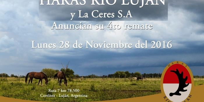 4º Remate Haras Rio Lujan, Lunes 28-11-2016.