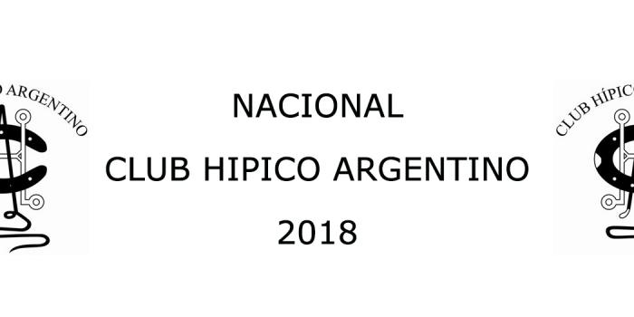 NACIONAL CLUB HÍPICO ARGENTINO 2018